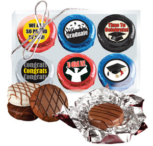 "Graduation ""Cookie Talk"" Chocolate Oreo 6 Pc  Box"