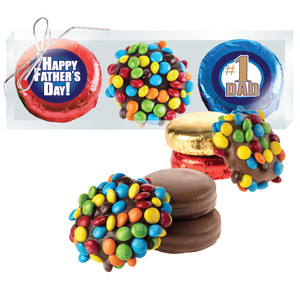 "FATHERS DAY ""COOKIE TALK"" - M&M  & CHOCOLATE OREO TRIO"