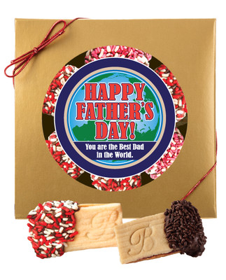 Father's Day Raspberry Sandwich Butter Cookie Box