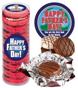 "FATHERS DAY  ""COOKIE TALK"" CHOCOLATE OREOS - 9 Pc.CYLINDER"