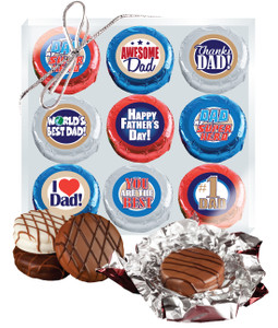 "FATHERS DAY ""COOKIE TALK"" CHOCOLATE OREO 9 Pc BOX"