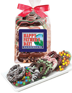 Fathers Day  Chocolate Pretzel Bag - 8 Pc