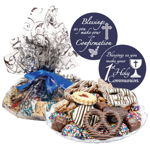 Communion/ Confirmation Cookie Assortment Supreme - Cookies, Pretzel & Candy