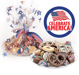 Celebrate America Cookie Assortment Supreme - Cookies, Pretzel & Candy