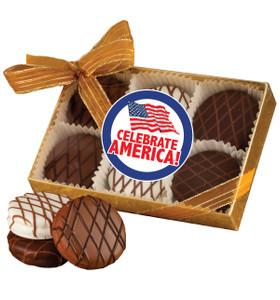 CELEBRATE AMERICA  CHOCOLATE DRIZZLED OREO 6 PK.