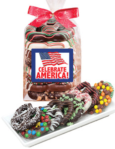 CELEBRATE AMERICA Gourmet Pretzel Bag - 8 Pc