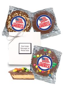 Celebrate America Peanut Butter Candy Pie