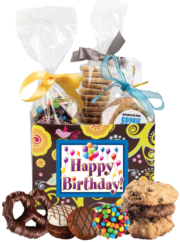 BIRTHDAY GIFT BASKET BOX OF GOURMET TREATS Image 1