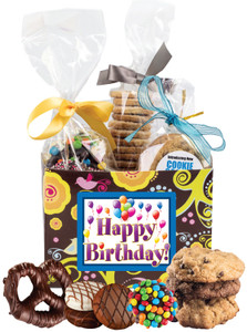 BIRTHDAY GIFT BASKET BOX OF GOURMET TREATS