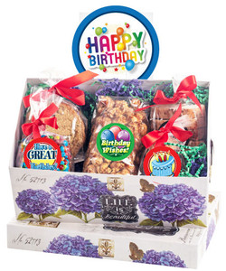 BIRTHDAY KEEPSAKE BOXES OF GOURMET TREATS