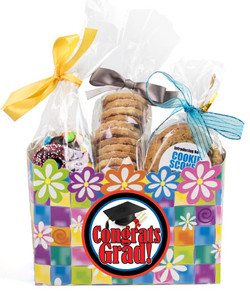 Graduation Flower Basket Box of Gourmet Treats