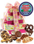 Father's Day 3 Tier Tower of Treats - Pink & Yellow
