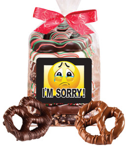 I'm Sorry Chocolate Pretzel Bag