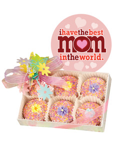 Mothers Day 6pc Floral Decorated Chocolate Oreo Box