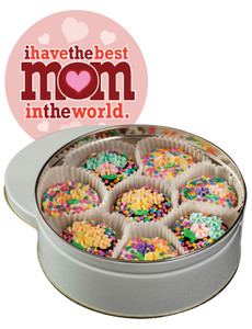 Mothers Day Spring Bouquet Chocolate Oreo Tin - Pink