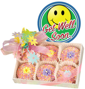 GET WELL FLORAL BOUQUET DECORATED CHOCOLATE OREO BOX