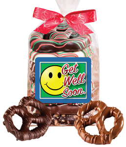Get Well Chocolate Pretzel Bag