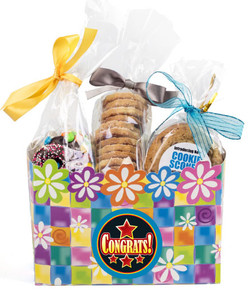 Congratulations Basket Box of Gourmet Treats