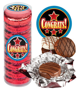 "CONGRATULATIONS ""COOKIE TALK"" CHOCOLATE OREOS - 9 Pc.Cylinder"