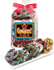 Congratulations Chocolate Pretzel Bag