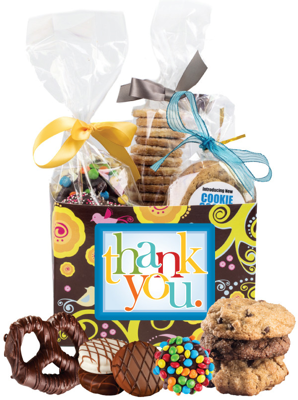 Thank You Gift Basket Box Of Gourmet Treats Barbaras Cookie Pies