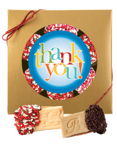 Thank You Raspberry Filled Sandwich Butter Cookies