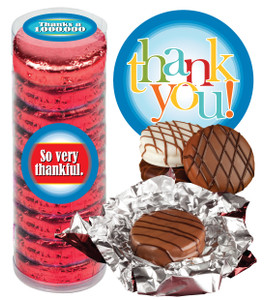 """THANK YOU """"COOKIE TALK"""" CHOCOLATE OREOS - 9 Pc. CYLINDER"""