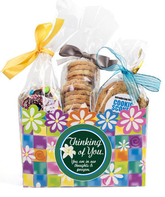 Thinking of You Gift Basket Box of Gourmet Treats - Flowers