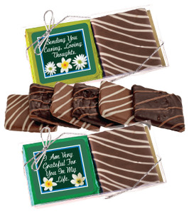 "Thinking Of You ""Cookie Talk"" Chocolate Graham Duo"