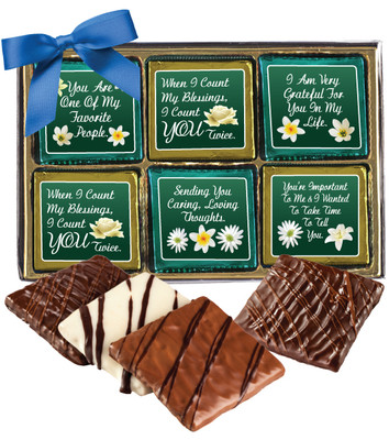 Thinking of You Cookie Talk 12pc Chocolate Graham Box
