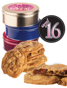 Sweet 16 Chocolate Chip Butter Cookie Tin