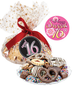 Sweet 16 Cookie Assortment Supreme: Cookies, Pretzel & Candy