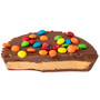 Sweet 16 Chocolate Peanut Butter Candy Pie Slice