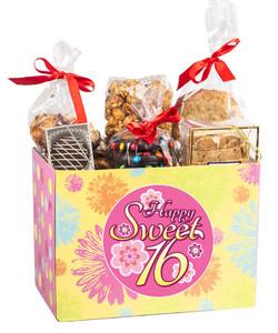 Sweet 16  Gift Basket Box Of  Treats