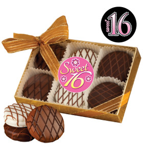 SWEET 16  CHOCOLATE DRIZZLED OREO 6 PK.