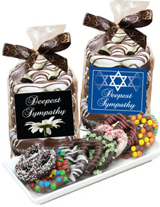 Sympathy/Shiva Chocolate Pretzel Bag