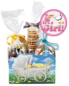 BABY GIRL BASKET BOX OF GOURMET TREATS