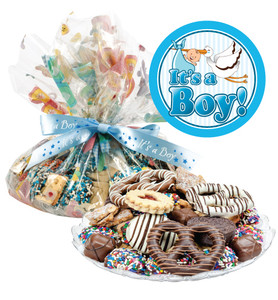 Baby Boy  Cookie Assortment Supreme - Cookies, Pretzel & Candy