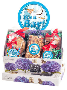 Baby Boy Keepsake Boxes Of Gourmet Treats