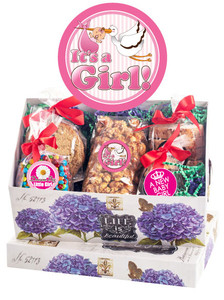 BABY GIRL KEEPSAKE BOXES OF GOURMET TREATS