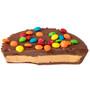 Custom Chocolate Peanut Butter Candy Pie - Halved