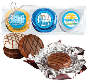 "BABY BOY ""COOKIE TALK"" CHOCOLATE OREO TRIO  W/ MESSAGES"