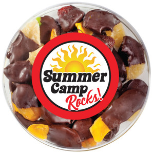 SUMMER CAMP CHOCOLATE DIPPED DRIED MIXED FRUIT