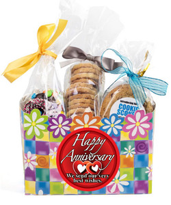 Anniversary Gift Basket Box Of Gourmet Treats - Flowers