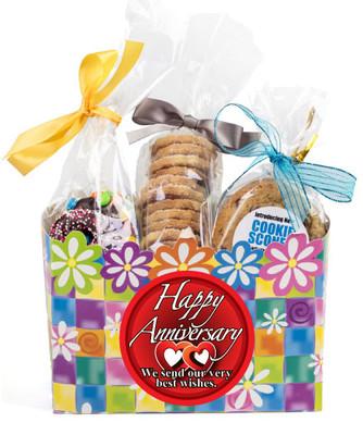 Anniversary Gift Basket Box Of Gourmet Treats - Flowers