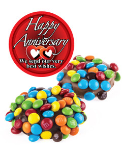 Anniversary Chocolate Oreos W/ Mini M&Ms