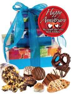 Anniversary Tower Of Treats - Assorted Colors - Blue