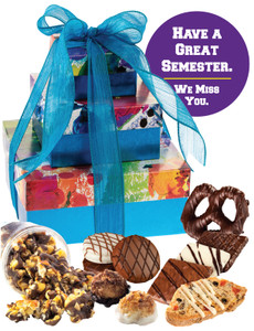 Back To School Three Tiered Tower of Treats - Blue