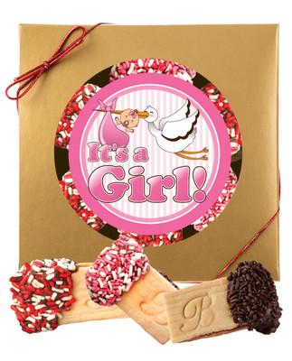 Baby Girl Raspberry Sandwich Butter Cookies
