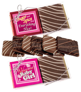 "BABY GIRL ""COOKIE TALK"" CHOCOLATE GRAHAM DUO"